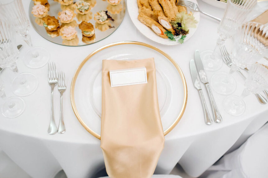 The Old Rectory Handsworth Wedding Venues in Sheffield table settings