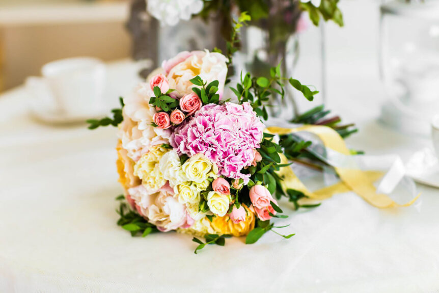 The Old Rectory Handsworth Wedding Venues in Sheffield wedding bouquet